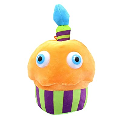 Toynk Five Nights at Freddy's 10 Inch Plush - Neon Orange Cupcake: Toys & Games