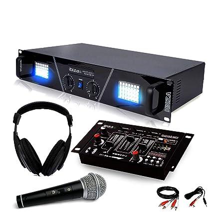 Amplificador sono 480 W matriciel LED de + auricular Micro mesa de ...