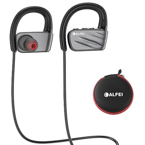 Auriculares Bluetooth IPX7 Waterproof - Auriculares deportivos inalámbricos CALFEI Auriculares incorporados Mic HD Stereo, Cancelación