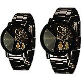 Skyloft Analog Black Dial Couple Watch - M38