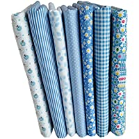 LUFA 7pcs Serie Azul de algodón de Tela