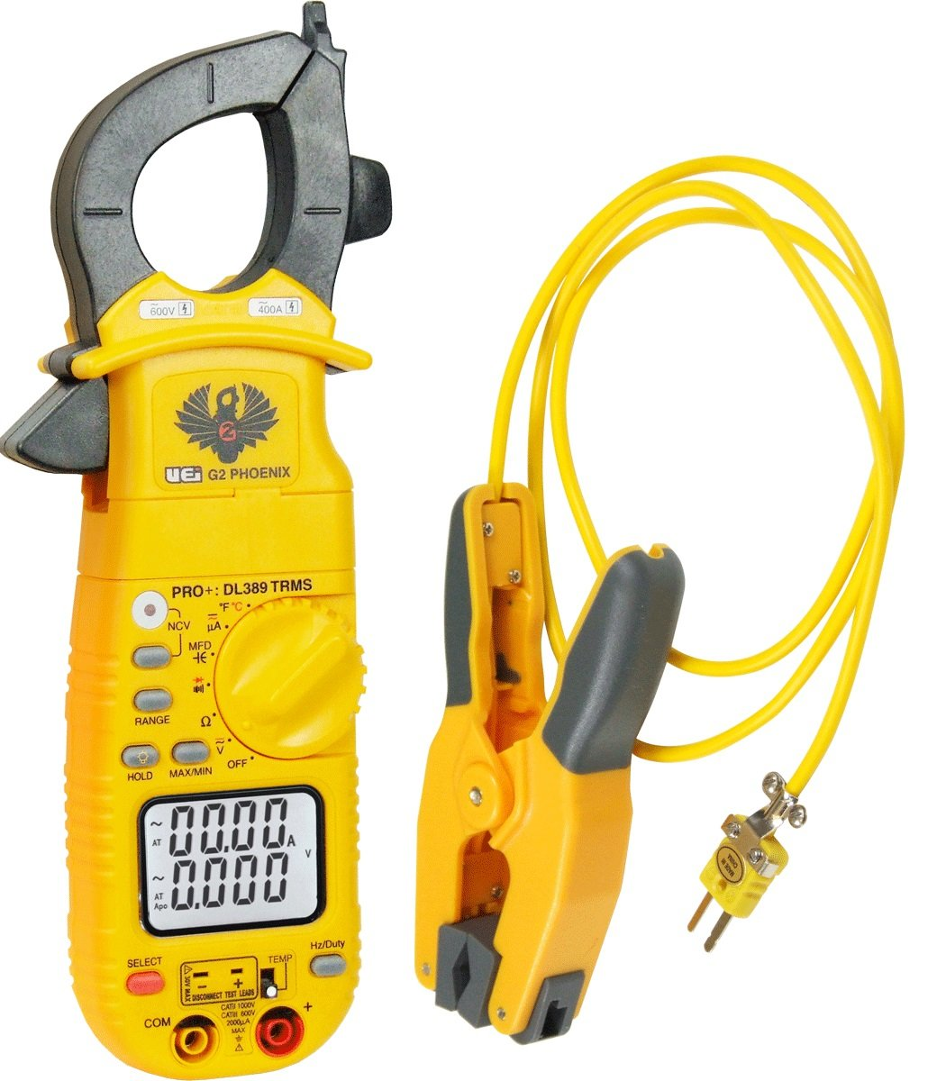 UEi Test Instruments  DL389COMBO Phoenix Pro Plus Clamp Meter And Pipe Clamp Probe