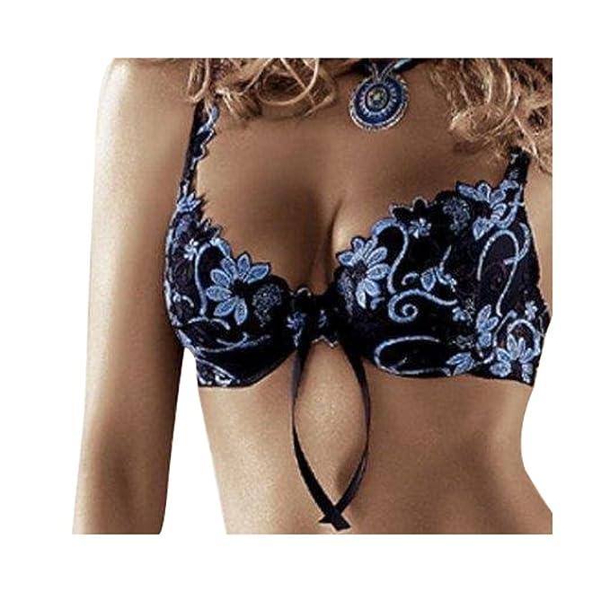 Push Up Sujetador Florence Negro/Azul de Roza 80 C: Amazon.es: Ropa y accesorios
