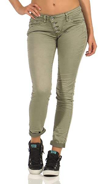 Buena Vista Malibu Stretch Twill Damen Jeans mit dekorativer
