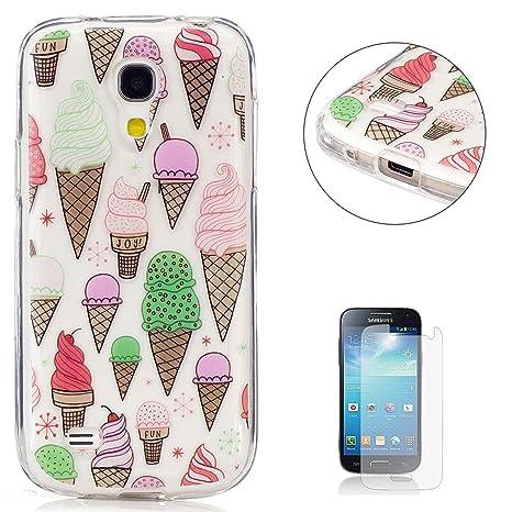 c13b68a40e8 KaseHom Compatible For Funda Samsung Galaxy S4 Mini i9190 Slicona Cáscara  Cristal Claro Prima Transparente Choque