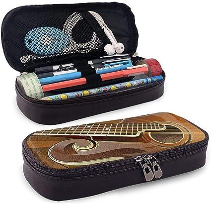 Estuche de lápices de cuero Gibson Porta bolígrafos - Bolso para lápices Papelería Bolsa de almacenamiento (Marrón): Amazon.es: Oficina y papelería