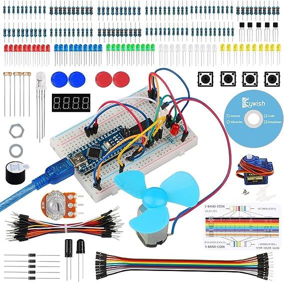 Keywish para Arduino Nano V3.0, Nano Starter Kit con Tutorial detallado para Arduino Nano UNO R3 Mega 2560: Amazon.es: Electrónica