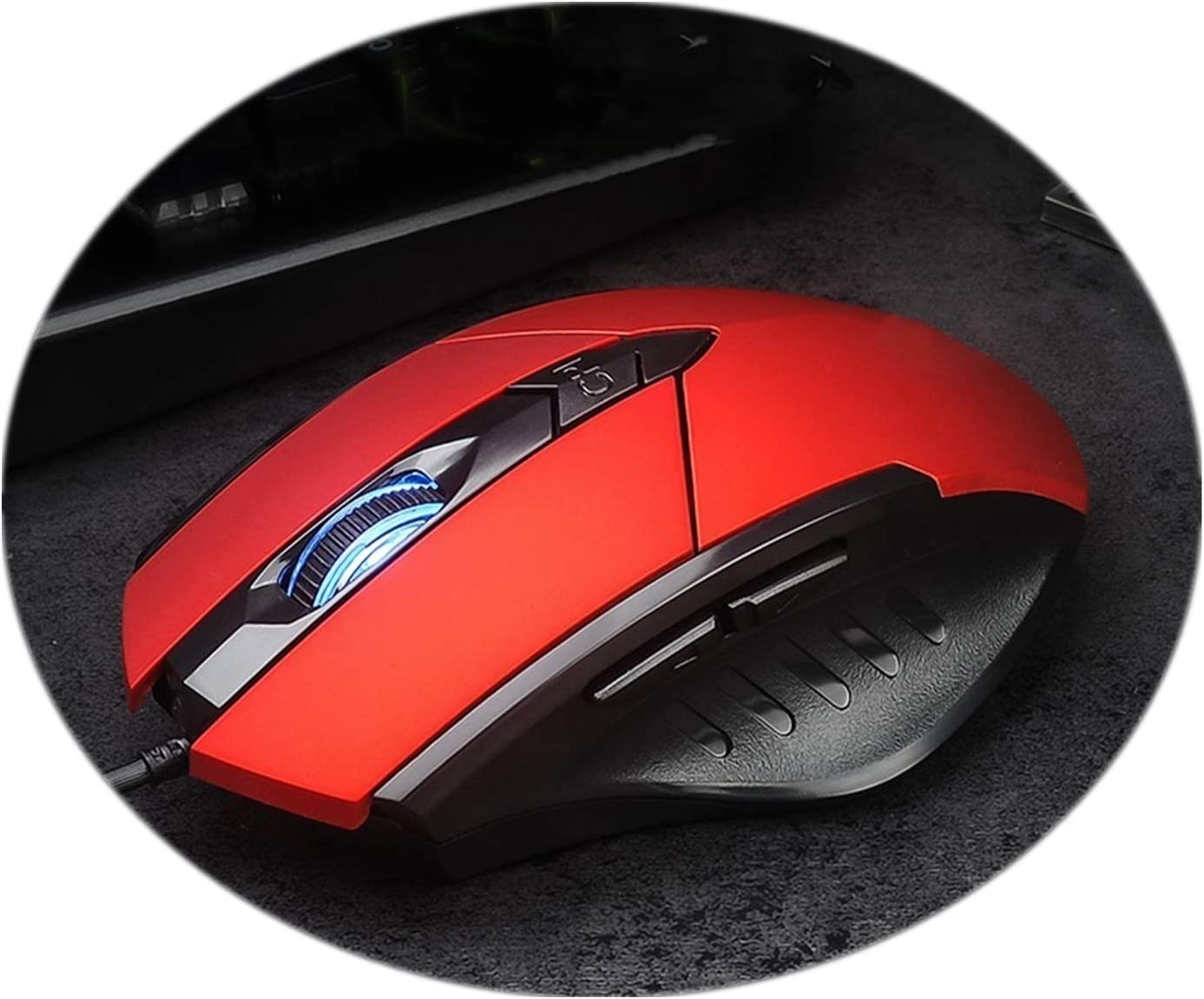 Mouse Wired Game Mouse Gaming Mouse Mute Mouse Red