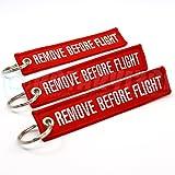 Rotary13B1 - Remove Before Flight Key Chain - 3 Pack