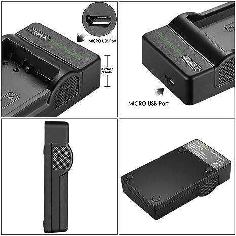 Neewer Cargador de Batería Micro USB para Rápido Nikon EN-EL14 EN-EL14a Nikon D3200 D3100 D5500 D5300 D5200 D5100 D3300 DF DSLR Coolpix P7800 P7700 ...