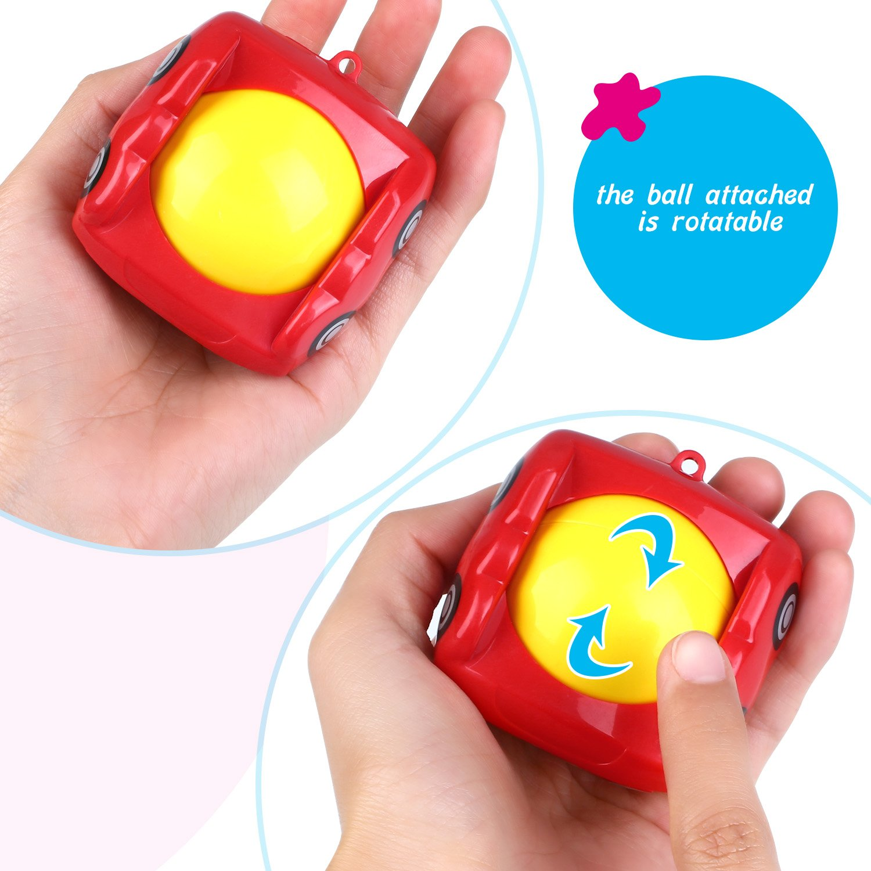 Peradix Children\'s Safe Water Toys 3 Pcs Floating Bath Toy, Fun Pool Game - Multi-coloured (Car)