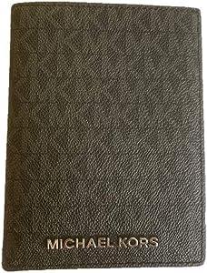 Michael Kors Jet Set Travel PVC Passport Case - Black (silver hardware)