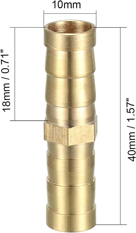 10 Pcs Laiton Barb Raccord De Tuyau Droit Adaptateur Connecteur De Tuyau Menuisier Bateau Air Eau Carburant 6mm
