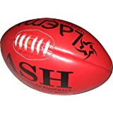 Laema Tournament Match Quality Professional Genuine Leather Australian Rules Ball Afl - Size 5 Onside Red