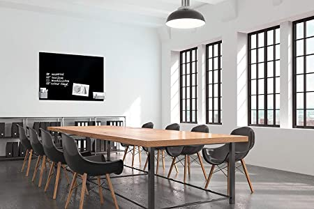 SIGEL GL210 Lavagna magnetica di vetro//bacheca di vetro Artverum nera 120 x 90 cm