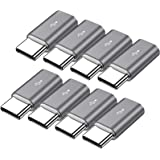 Micro USB to USB C Adapter,8-Pack Aluminum USB Type C Adapter Convert Connector Compatible with Samsung Galaxy S10e S9…