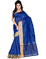 Roopkala Silks & Sarees Women's Poly Cotton With Blouse Piece (Sh-1312_Royal Blue)