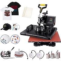 Seeutek Pro 8 in 1 Heat Press Machine 12x15 inch 360-Degree Swing Away Digital Heat Transfer Multifunction Sublimation…