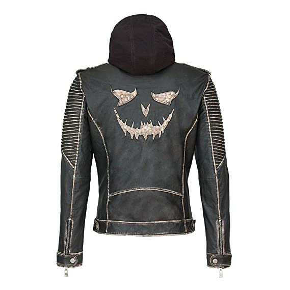 f2268f14f951 Joker The Killing Jacket Distressed Black Real Leather Jacket (XXS)
