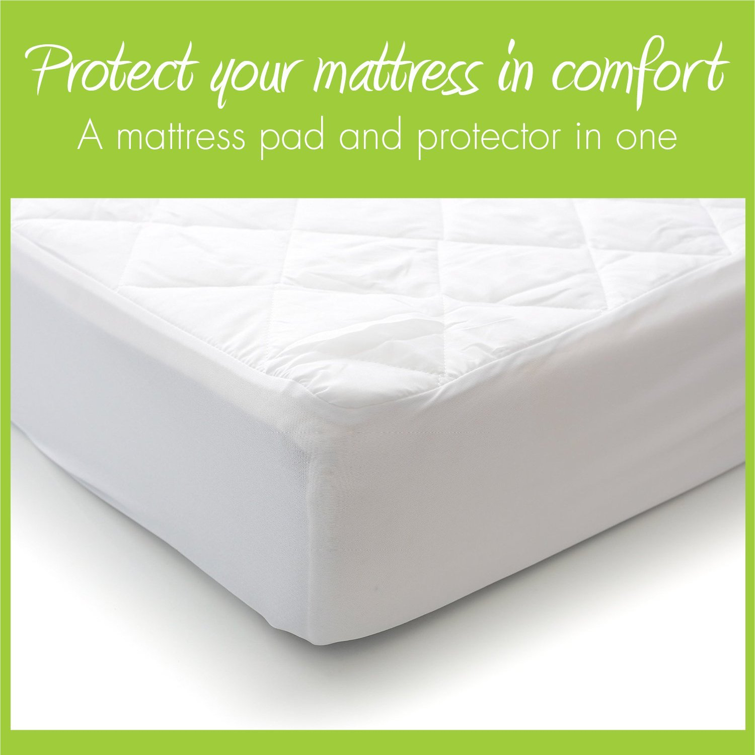 MILLIARD Quilted, Waterproof Crib & Toddler Mattress Protector Pad, Premium Hypoallergenic Fitted Cover with Extra Padding 28x52x6 by Milliard (Image #2)