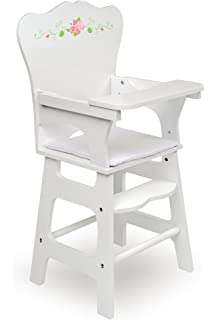 amazon playtime by eimmie 18 inch doll furniture sofa 60 Inch Fabric badger basket white rose doll high chair fits american girl dolls white