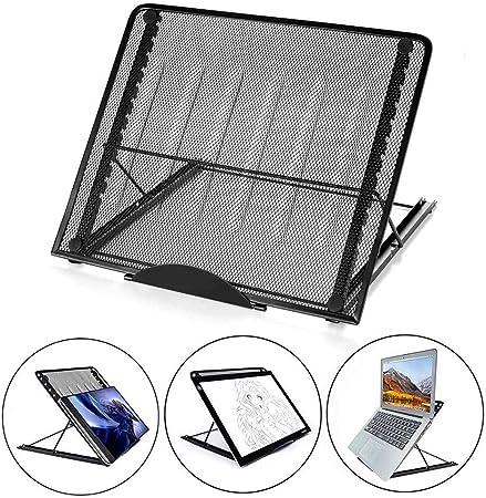 VOLBABY Soporte de Almohadilla portátil para Caja de luz Ajustable, multifunción 6 Puntos de ángulo Soporte de rastreo evitado para AGPtek/Huion A4 Almohadilla de luz LED de rastreo: Amazon.es: Hogar