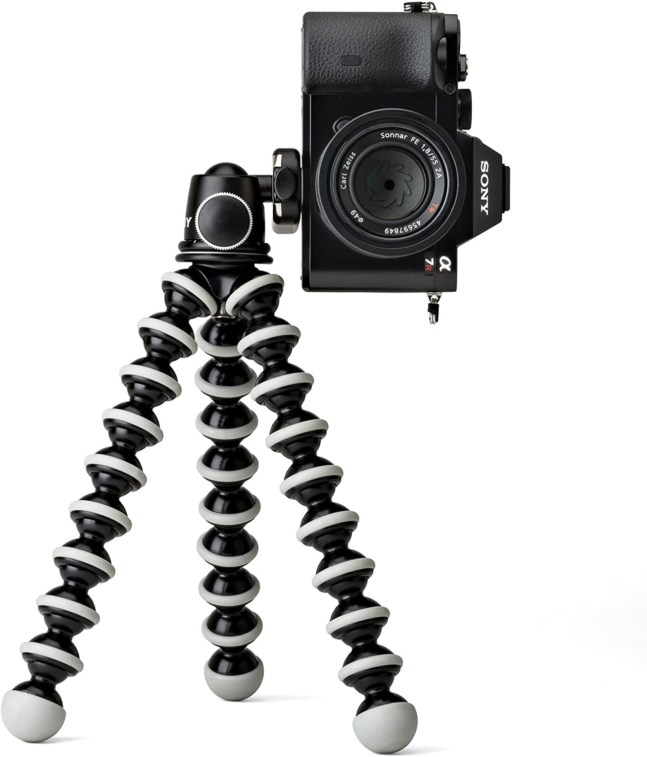 Renewed JOBY GorillaPod SLR Zoom Flexible Tripod with Ballhead Bundle for DSLR and Mirrorless Cameras Up To 3kg. 6.6lbs
