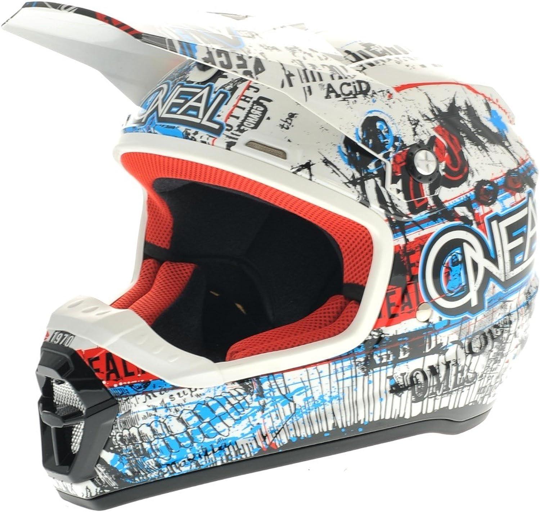 O Neal 5 Series Acid Motocross Enduro Mtb Helm Blau Rot 2016 Größe Xl 61 62 Cm Sport Freizeit