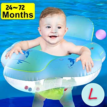 Newborn Float Swimming Neck Ring Baby Kid Bath Safety Aid Toy Circle Float Tool