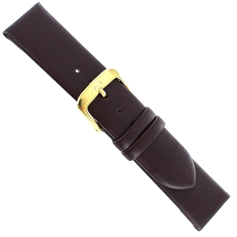 18 mm Di ModellブラウンNappa防水100 M Genuine Calfskin Watch Band x-short  B071NBCJVP