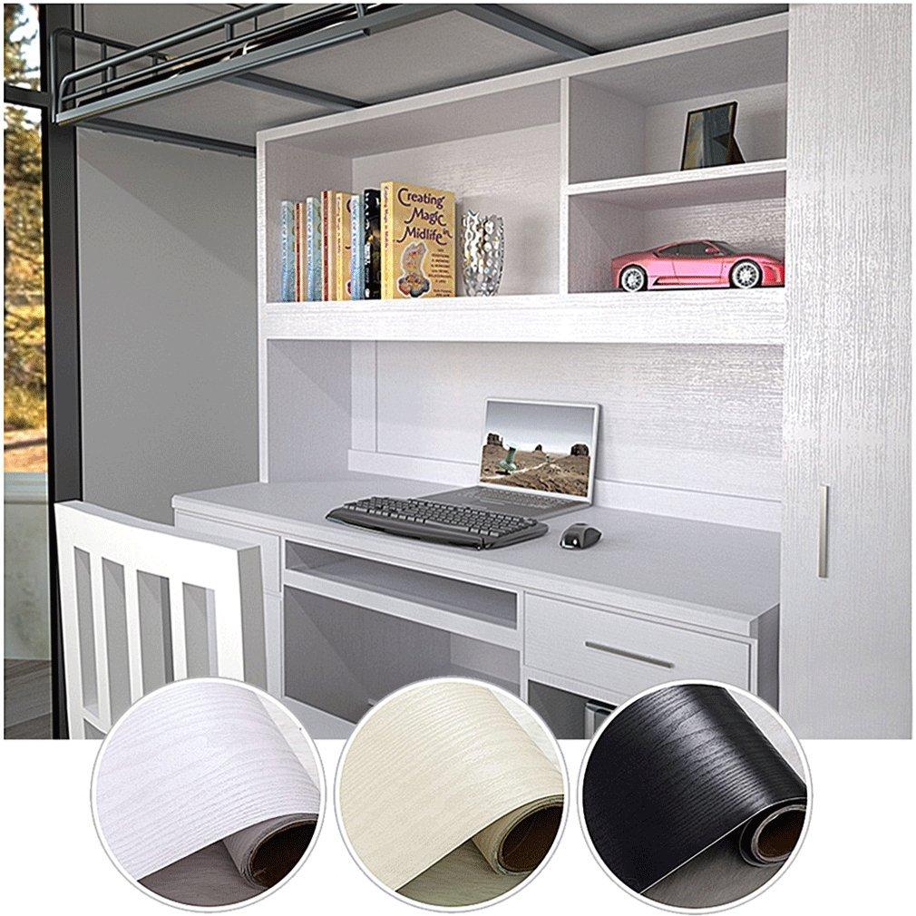 kinlo 0 61m5m1 rotolo adesiva per mobili finto legno grano bianco