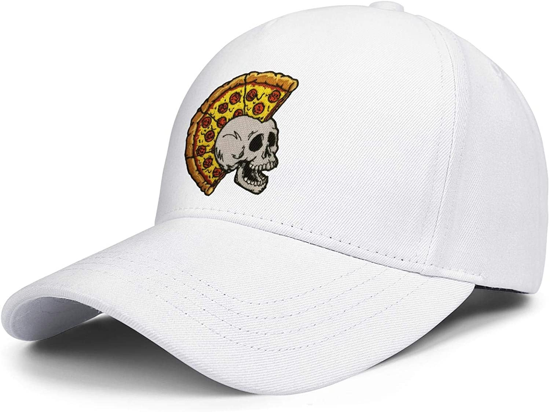 Mr Pizza by The Slice Skulls Unisex Baseball Cap Soft Fit Sport Caps Adjustable Trucker Caps Dad-Hat