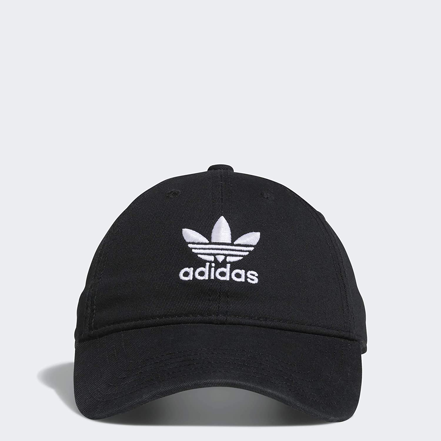 adidas Originals Women's Relaxed Adjustable Strapback Cap, Black/White, One Size: Sports & Outdoors