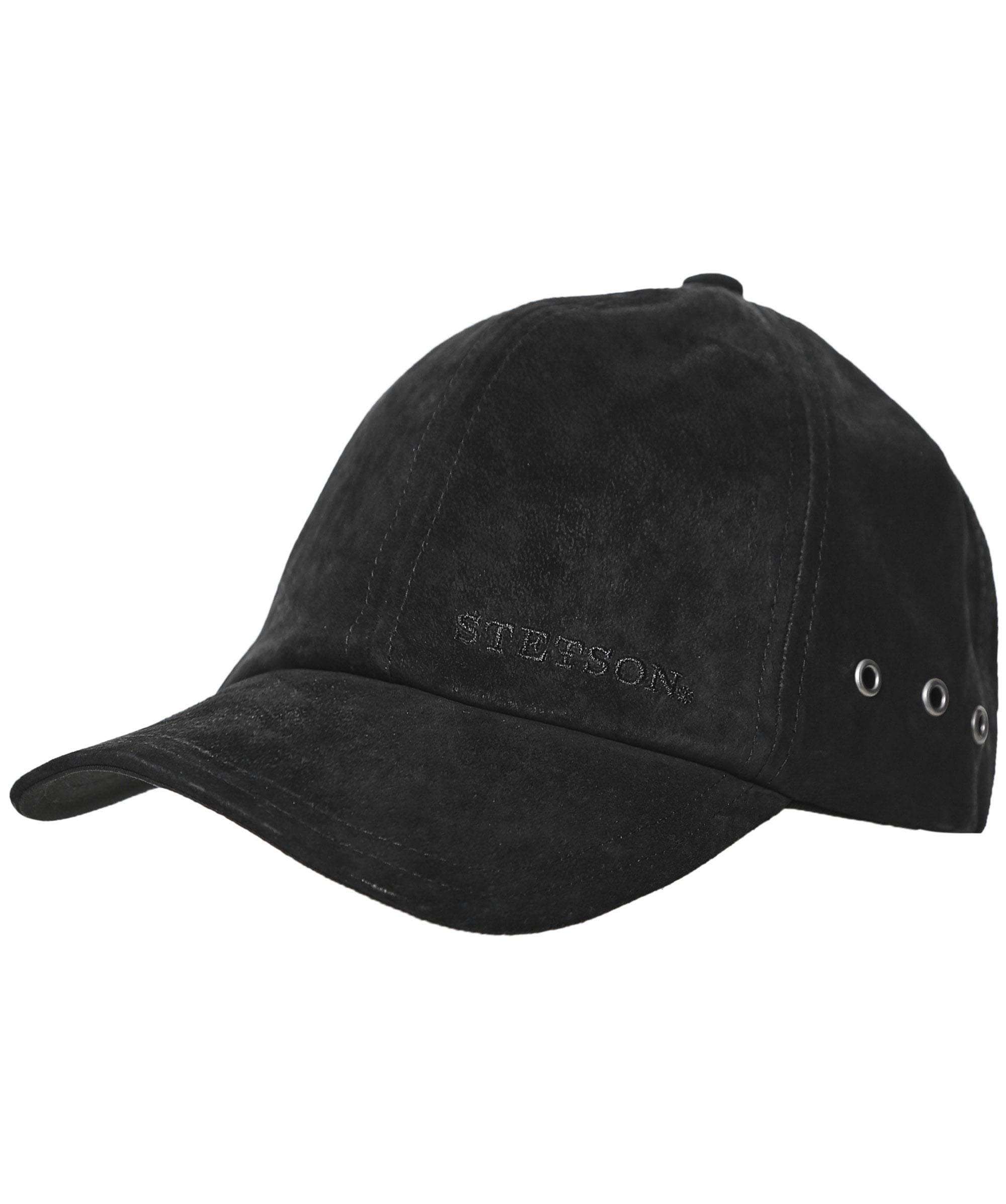 Stetson Men's Leather Baseball Cap (Black)