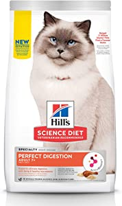 Hill's Science Diet Senior Adult 7+, Cat Dry Food Perfect Digestion