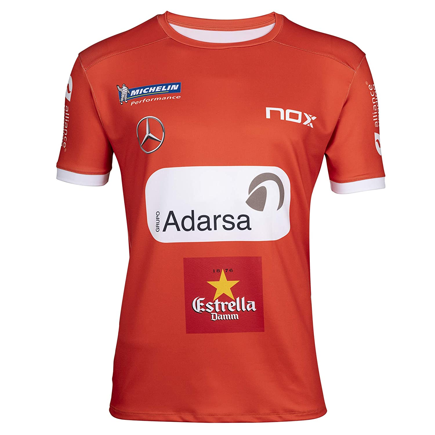 NOX Camiseta Sponsor ML Team Rojo: Amazon.es: Deportes y aire libre