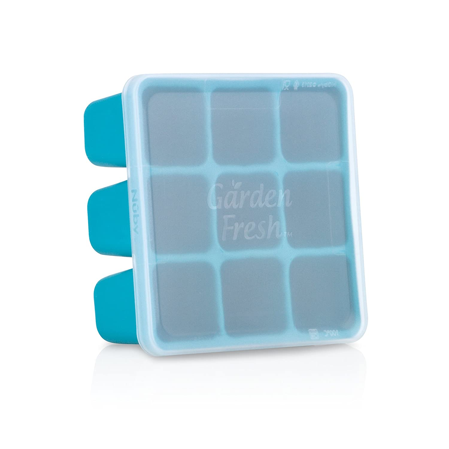 Nuby 534345BL Garden Fresh Freezer Tray, Blue