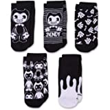 Bendy and the Ink Machine Socks - 5 Pairs of Bendy No Show Socks (Youth/Adult)