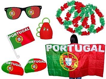 Em Fútbol Fan del paquete de Portugal FP 10 Fan Artículo BF – Bandera capa Caxirola