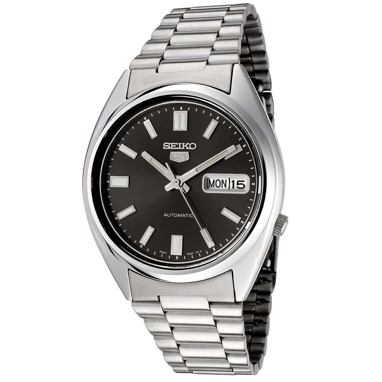 6891cf525a91 Seiko SNXS79K - Reloj analógico automático unisex con correa de acero  inoxidable