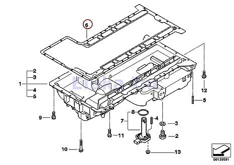 Amazon Bmw Genuine Lubrication System Engine Oil Pan Gasket M5