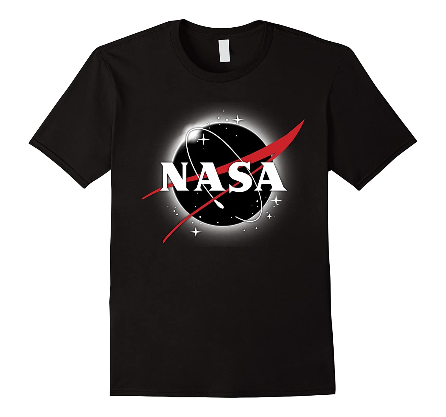 NASA Classic Logo Atop Total Solar Eclipse Graphic T-Shirt-T-Shirt