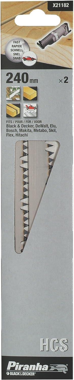 240 mm Piranha Cutsaw Blade Coarse Finish HCS Set of 2