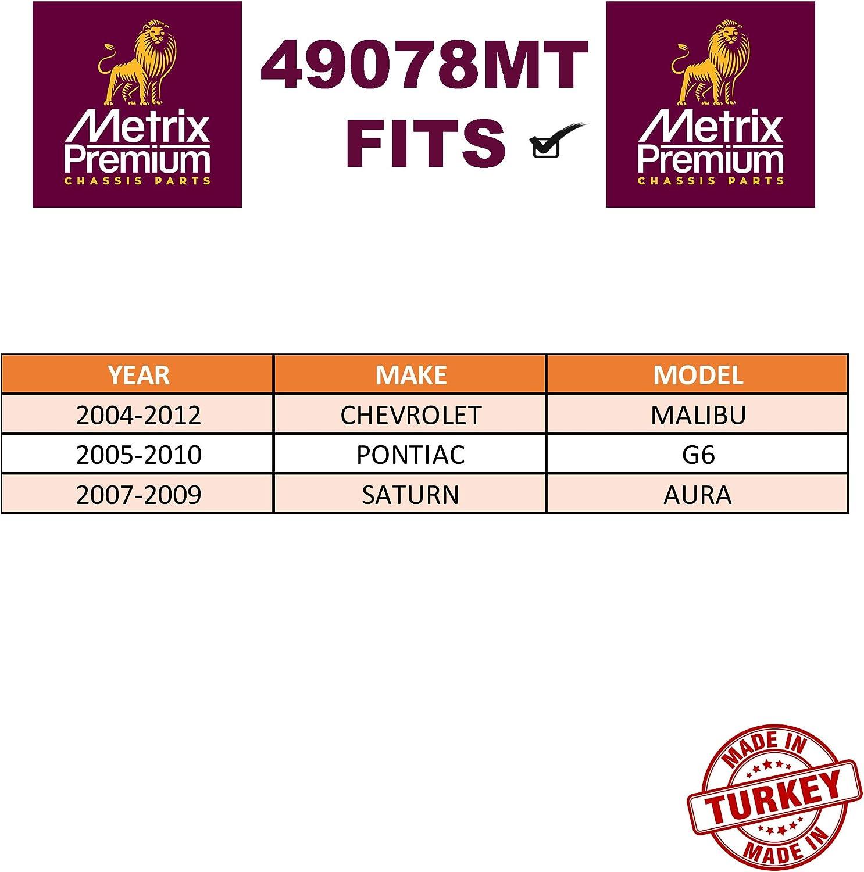 2005-2010 Pontiac G6 EV80988 2004-2012 Chevrolet Malibu 2007-2009 Saturn Aura Made in TURKEY For METRIX PREMIUM 49078MT Front Inner Tie Rod End