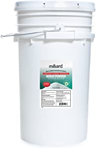 Milliard Borax Powder 55 Pound Bulk -Pure Multi-Purpose Cleaner, comes in a Re-sealable Plastic Pail (55 POUNDS)