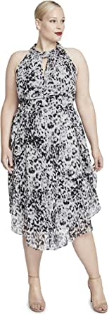 RACHEL Rachel Roy Women's Plus Size Chiffon Midi Dress
