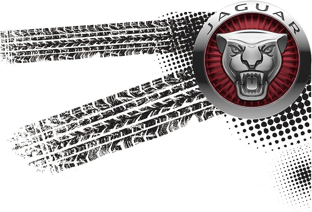 Auto Logo Car T-Shirt vor Fun 048 mmshop18 Jaguar Gris