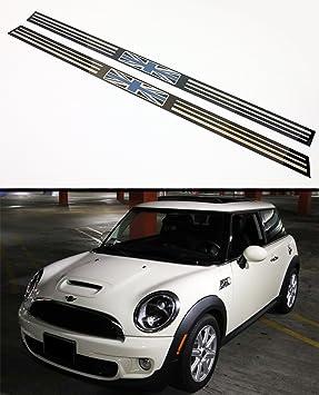 Para 2007 - 2014 R56 R57 Mini Cooper S negro Jack Reino Unido Bandera Logo entrada umbral de la puerta borde funda: Amazon.es: Coche y moto