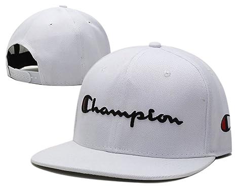 unisex-Champion regolabile Hip Hop Sport Fans Cappello Snapback Berretto da  baseball (bianco ddf73148c76f