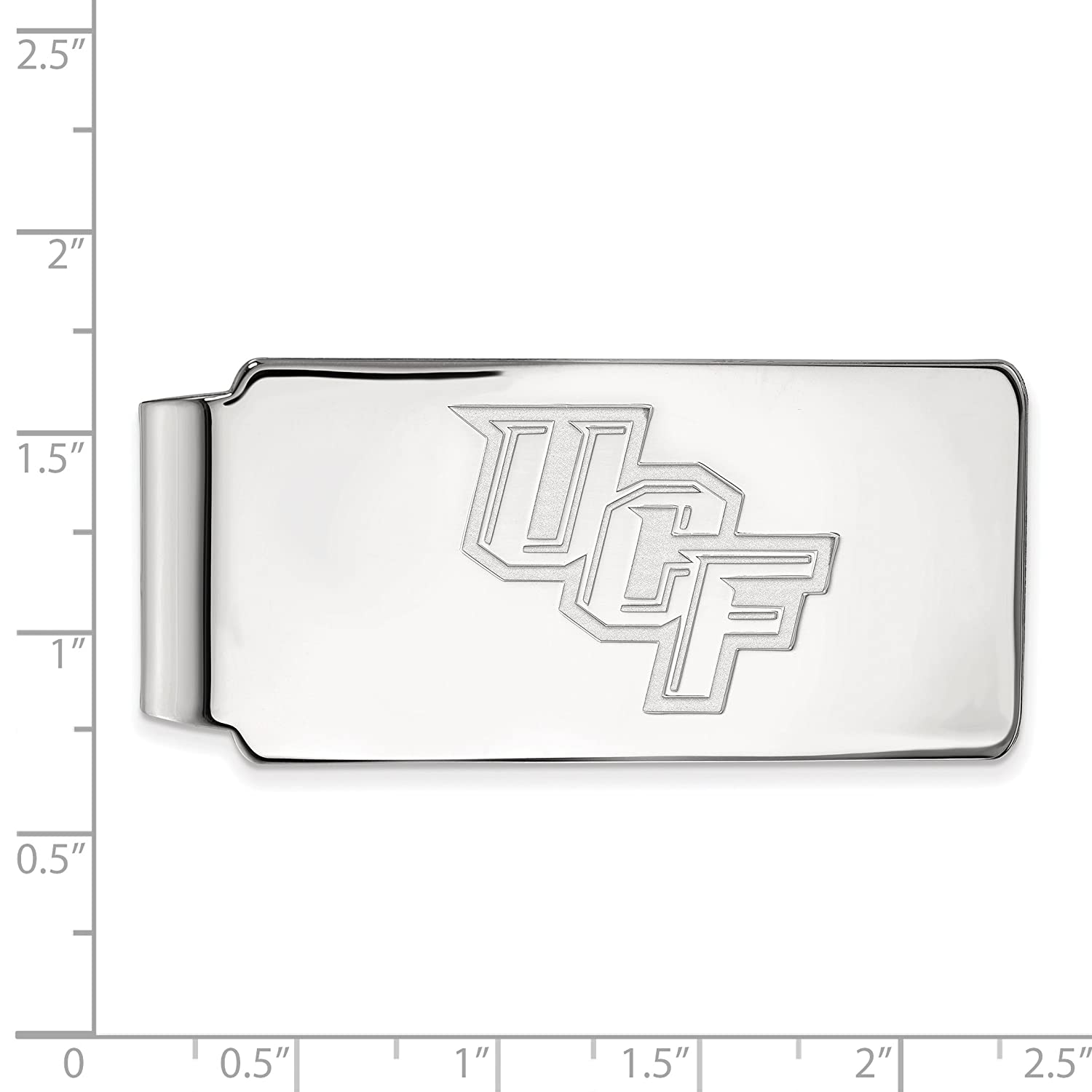 Money Clip Sterling Silver LogoArt Official Licensed Collegiate University of Central Florida UCF
